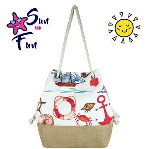 Fashion Sea Life Print Bag / Tote